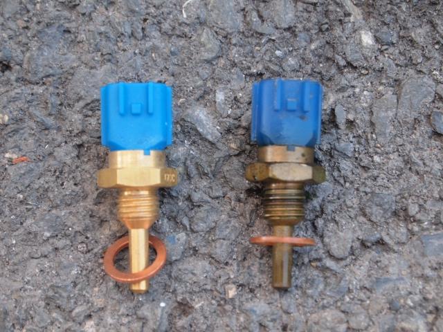 ラシーン水温センサー写真 左新品 右古い