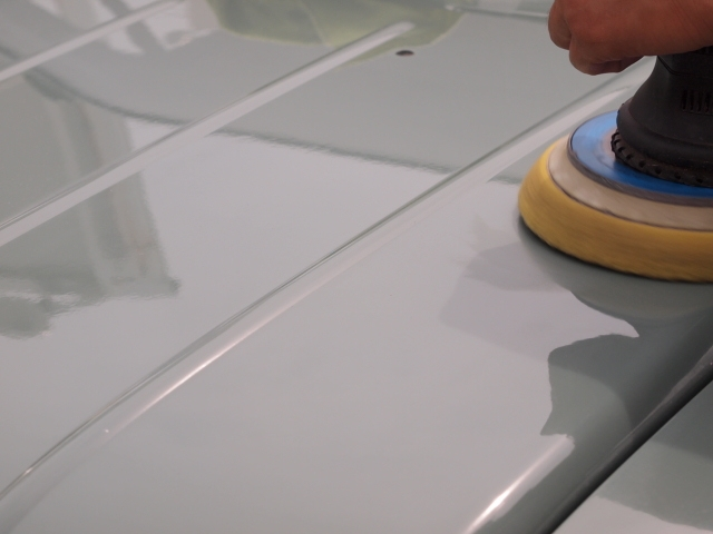 コーティング塗り込み作業